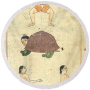 Islamic Mythical Creatures, 17th Century Round Beach Towel