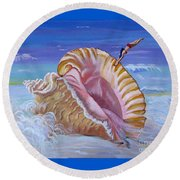 Magic Conch Shell Round Beach Towel