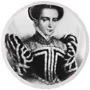 Mary I, Queen Of England And Ireland Round Beach Towel by Omikron