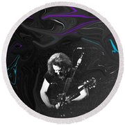 Jerry Garcia - Grateful Dead - Morning Dew Round Beach Towel by Susan Carella