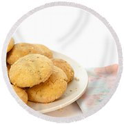 Moroccan Biscuits Round Beach Towel