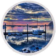 Morro Bay Wonder Round Beach Towel