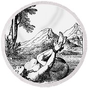 Ordeal By Water Round Beach Towel