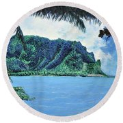 Pacific Island Round Beach Towel