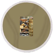 Round Beach Towel featuring the photograph Parmesan Rounds by Carla Parris