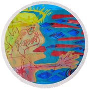 Past Their Mask - Hate Evil  Round Beach Towel