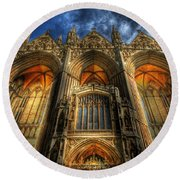 Peterborough Cathedral Round Beach Towel