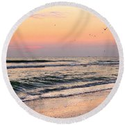 Postcard Round Beach Towel