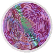 Power Of Mind Round Beach Towel by Rogerio Mariani