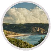 Praia Do Amado Round Beach Towel