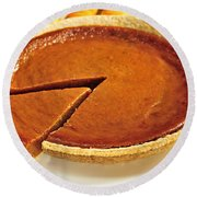 Pumpkin Pie Round Beach Towel