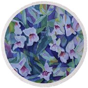 Snap Dragons Round Beach Towel