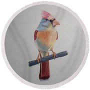 Spring Cardinal Round Beach Towel by Norm Starks