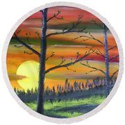 Spring Sunrise Round Beach Towel