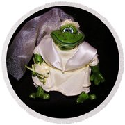 Round Beach Towel featuring the photograph The Green Bride by Sherman Perry