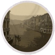 Round Beach Towel featuring the photograph Venice by David Gleeson