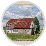 Round Beach Towel featuring the photograph Vote For Me I by Debbie Portwood