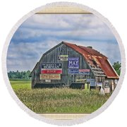 Round Beach Towel featuring the photograph Vote For Me II by Debbie Portwood