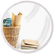 Waste Paper Bin Round Beach Towel