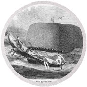 Whaling, 1850 Round Beach Towel