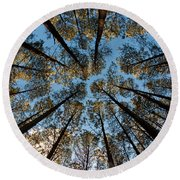 Whispering Pines Round Beach Towel