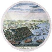 Wolfe At Quebec, 1759 Round Beach Towel