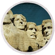 150 Years Of American History Round Beach Towel by Lana Trussell