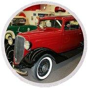 1930's Antique Chevrolet Sedan Round Beach Towel