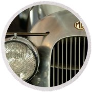 1934 Mg Pa Midget Supercharged Special Speedster Grille Round Beach Towel