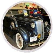 1936 Chevrolet Phaeton Round Beach Towel