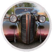 1938 Ford Round Beach Towel