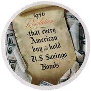1946 Resolution  Round Beach Towel