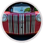 1947 Ford Truck Round Beach Towel