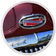 Round Beach Towel featuring the photograph 1951 Buick Eight by Gordon Dean II