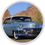 1954 Cadillac Coupe Deville Round Beach Towel
