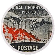 1957-1958 International Geophysical Year Stamp Round Beach Towel