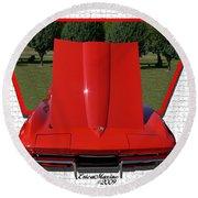1965 Corvette Round Beach Towel by EricaMaxine  Price