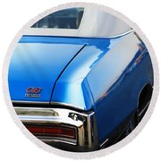 Round Beach Towel featuring the photograph 1971 Buick Gs by Gordon Dean II