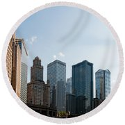 Chicago City Center Round Beach Towel