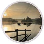 Knapps Loch Sunrise Round Beach Towel