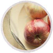 3 Apples Round Beach Towel