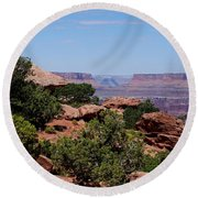 By The Canyon Round Beach Towel by Dany Lison