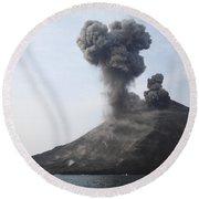 Krakatau Eruption, Sunda Strait Round Beach Towel