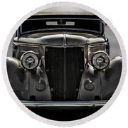 '36 Ford Convertible Coupe Round Beach Towel
