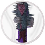 3d Club Hammer Round Beach Towel by Robert Margetts