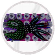 3d Fish From Hell Round Beach Towel