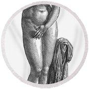 Aphrodite/venus Round Beach Towel