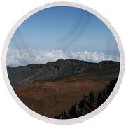 Haleakala Volcano Maui Hawaii Round Beach Towel