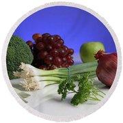 Foods Rich In Quercetin Round Beach Towel