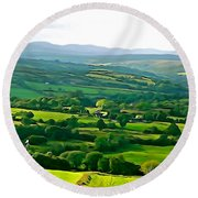 Round Beach Towel featuring the photograph 50 Shades Of Green by Charlie and Norma Brock